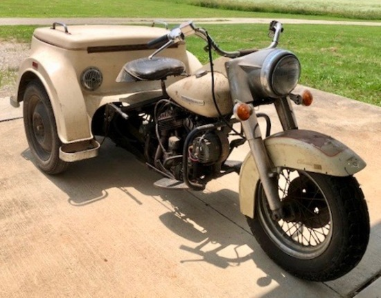 1973 AMF Harley Davidson GE Servi-Car Classic Motorcycle
