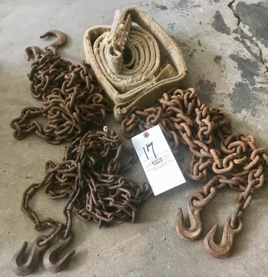 (3) Chains & Strap