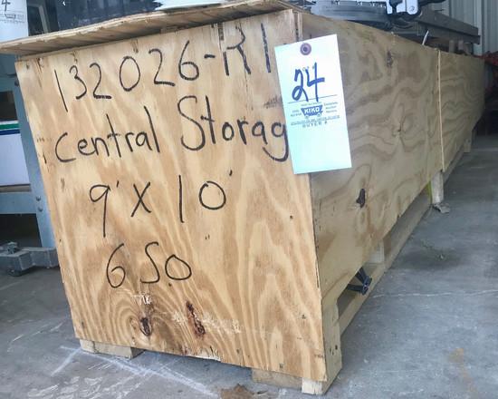 Green 9 x 10 Storage Overhead Steel Door In Crate