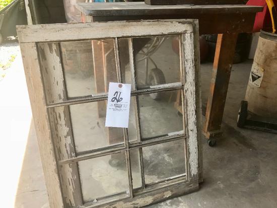 Work Stand & (2) Old Windows