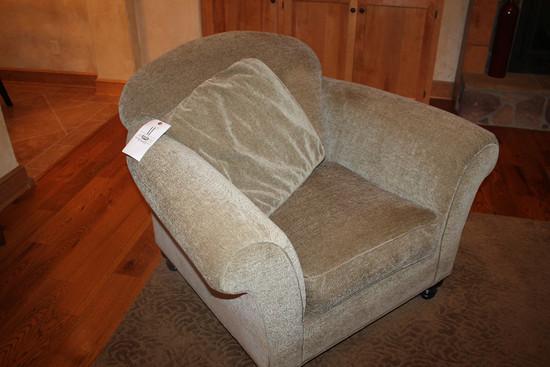 (2) Arhaus Oversized Upholstered Chairs