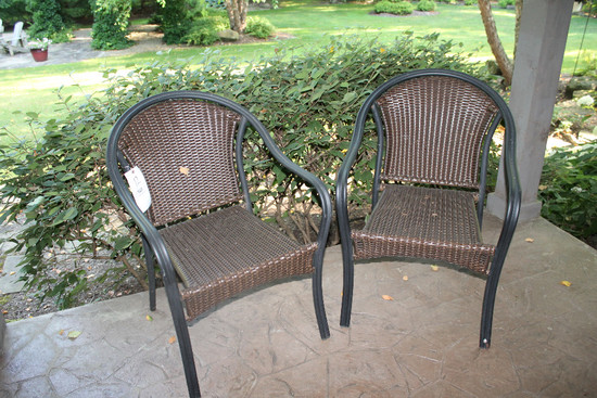 (2) Wrought Iron Patio Chairs