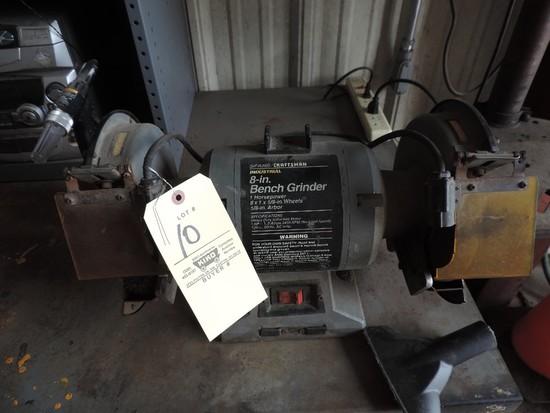 """Sears Craftsman 8"""" Industrial Dual-Shaft Grinder 1 HP"""