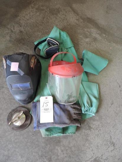 Welding Helmet, Jacket, Gloves, Mask