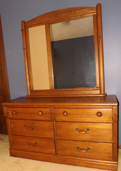 Lexington 6-Drawer Dresser With Mirror, Hat Hooks And Bulletin Board