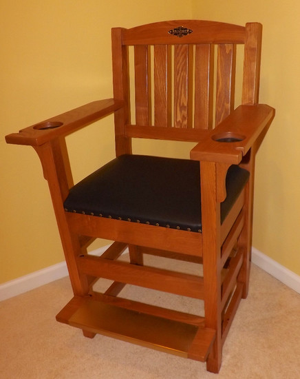 "Brunswick Oak Players Chair, 45"" Tall (Stow, OH Pickup Location)"