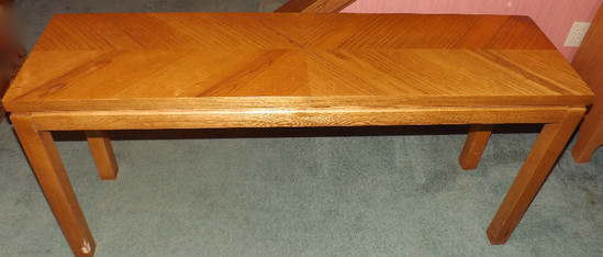 Lane Oak Finish Sofa Stand