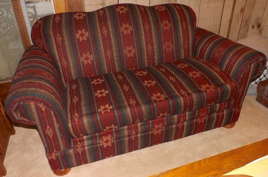 Southwest Style Upholstered Sofa