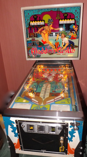 1976 Bally Aladdin's Castle Two-Player Pinball Machine With Model And Parts Catalogues