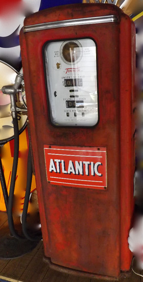 Atlantic Gas Station Pump By Tokheim. Has Surface Rust. Cuyahoga Falls Pickup.