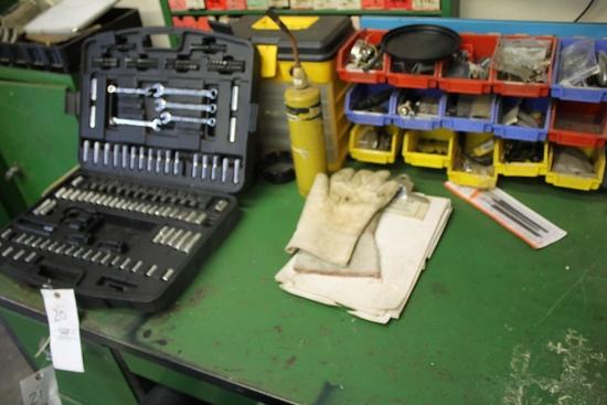 Contents of Top Of Desk Inc. Husky Partial Tool Set & Organizers