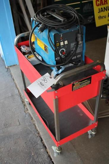Chicago Electric Dual Mig Welder W/ Rolling Cart