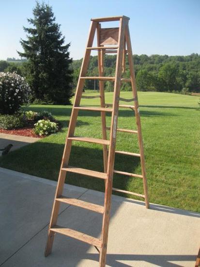 Wood 8' Step ladder