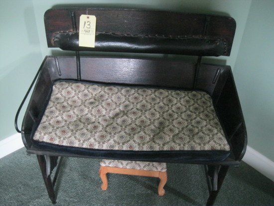 Buggy seat bench with foot stool