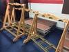 (3) Rolling Oak Instruments Racks