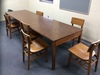 (2) Wood Tables w/ Approx. 6 Chairs & White Board