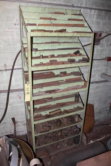 Metal Shelf w/ Assorted Metal Stock