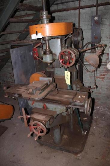 Browne & Sharpe Vertical Milling Machine w/ Vice
