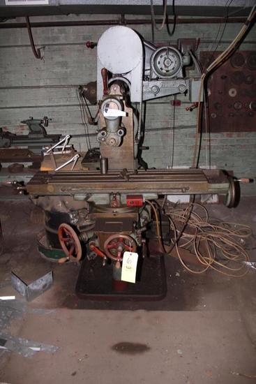 Brown Sharpe Horizontal Milling Machine & Assorted Milling Wheels