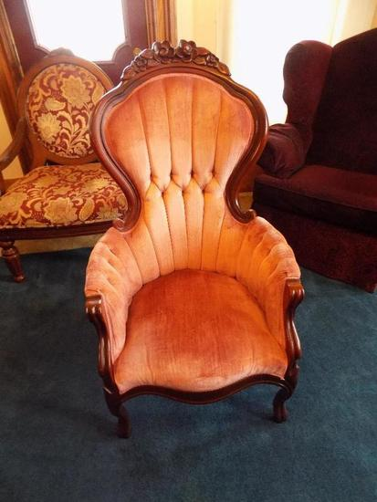 Rose Carved Victorian Chair