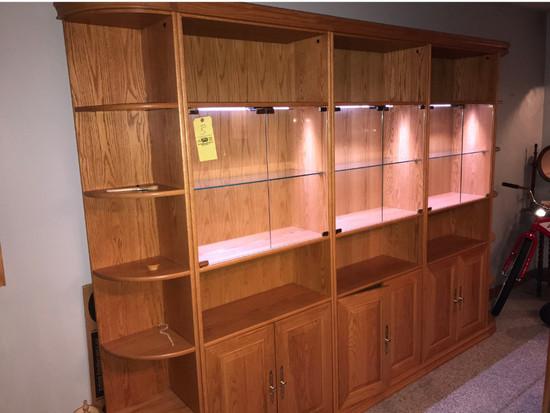 Malabar Modular 5 Section Oak Bookcase