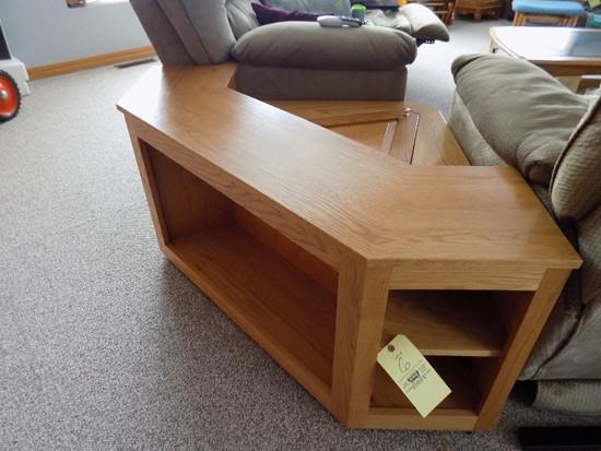 Oak Custom Built Corner End Table