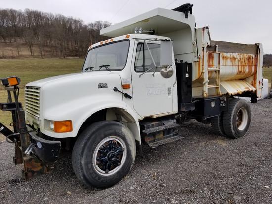 2001 International 4700 DT466E Dump Truck, 15,400 Actual Miles