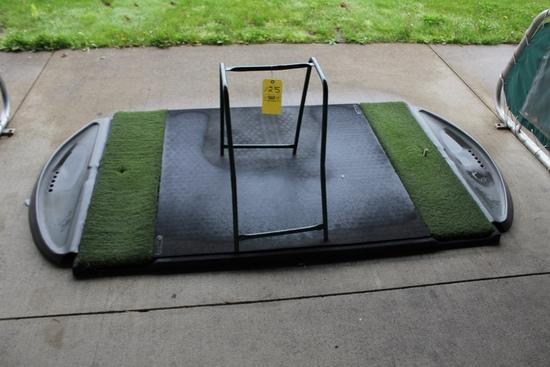 Golf Mat & Bag Stand