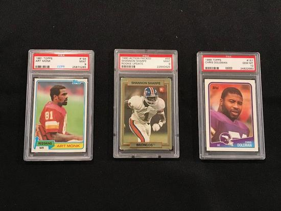 (3) PSA Graded Rookie Cards