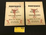 1947 Minerva Merchants Semi-Pro Football Programs