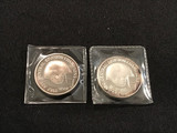 1986 & 1987 Cleveland Browns Silver Coins