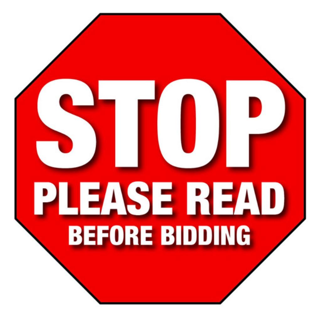 PLEASE READ BEFORE BIDDING!