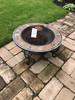 Tile-Edged Patio Firepit