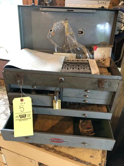 Craftsman Metal Machinist Box W/ Key