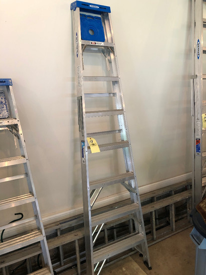 8' Werner step ladder, alum