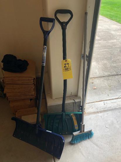 Snow shovels - broom