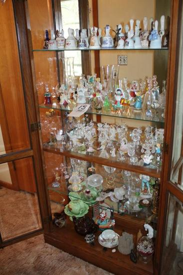 Large Bell Collection, Loads of Angel & Animal Figurines, Tea Pot, Bowl & Pitcher