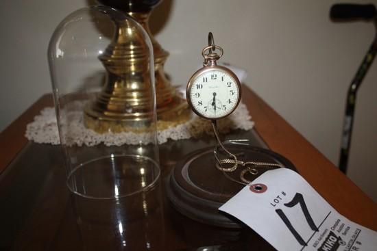 Hamilton Pocket Watch w/ Display Case