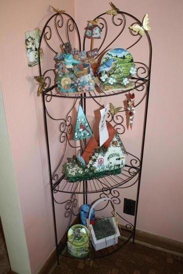 Wire Stand w/ Assorted Figurines, Snowglobe
