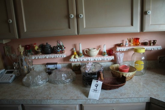 Hot Plates, Steak Knives, Pattern Glass, 8 Plates & Cups, Figurines, Shot Glass Set, Baskets