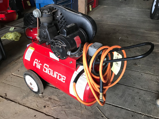 Air Source/Snap-On Horizontal Air Compressor