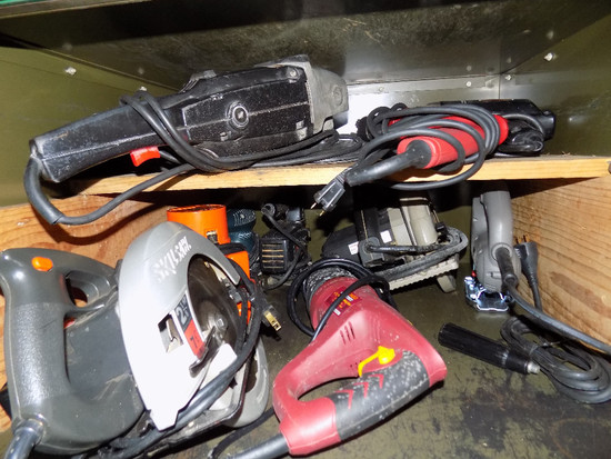Circular Saws, Saw Saw, Router, Jigs Saws, Sander, And Drills