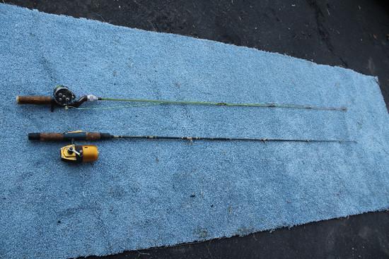 2 Fishing Poles W/ True Temper Quick Spin