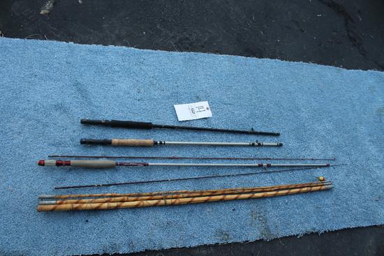Cane Pole W/ Asst. Rod Parts