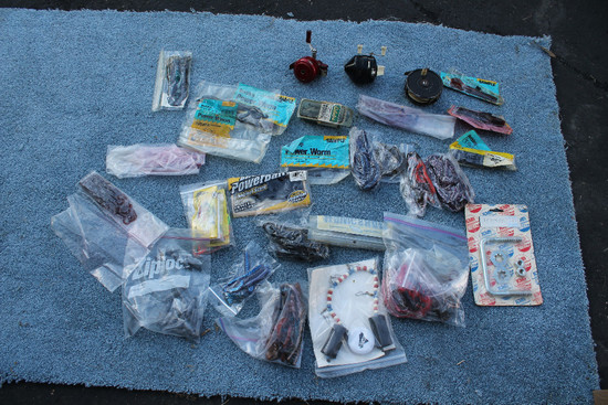 Fly Reel, 2 Fishing Reels & Assorted Soft Bait