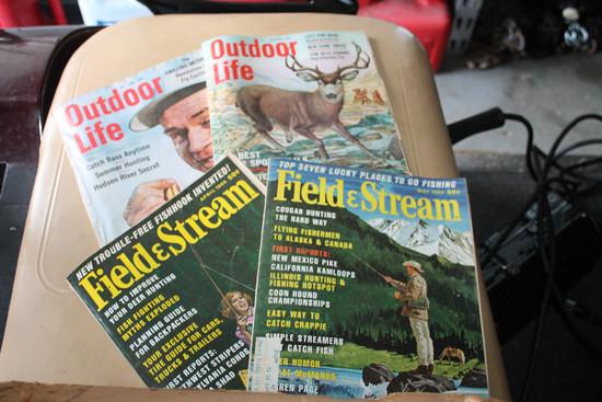 Asst. 1950-1960 Field & Stream & Outdoor Life Magazines