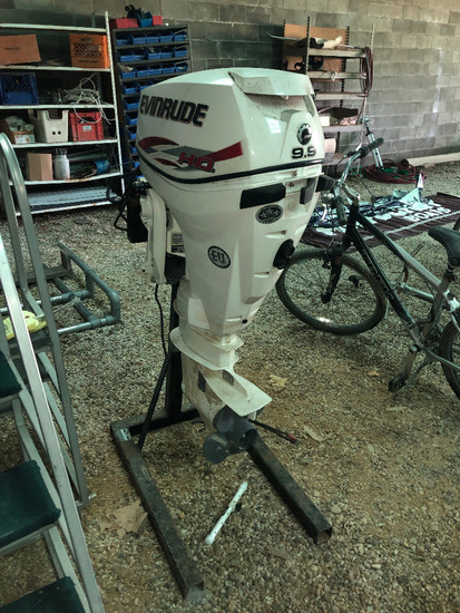 Evinrude High Output 15HP Motor, 9.9HP Cover, 30HP Block