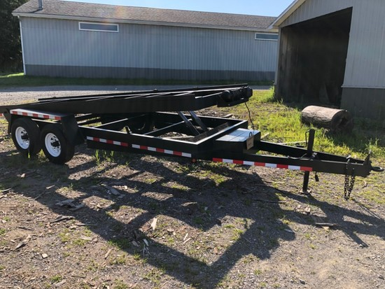 Hydraulic Tilt-Deck Car Hauler W/ Winch, 6,000 GVW, 20 ft.