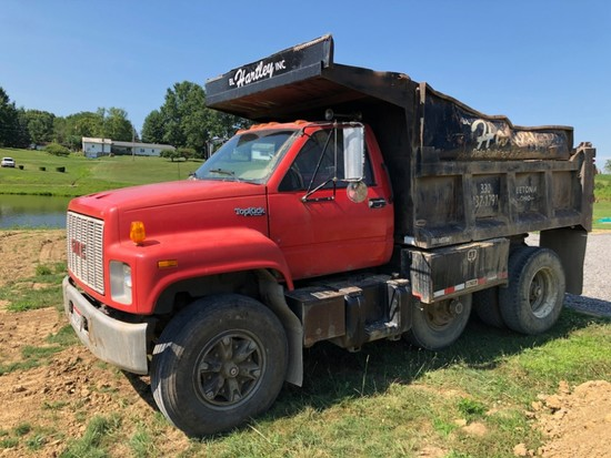 1991 GMC Dump Truck, 13-Ton CAT Diesel, 99,214 Mi., W/ Drop Axle