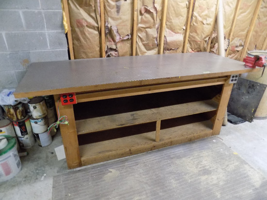 Work table 3ft x 8ft with craftsman vice
